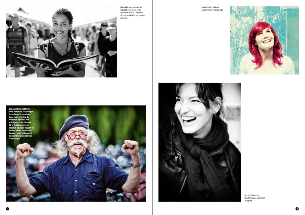 Pagina uit het Everyday People - © Fotografie: Martin Hogeboom